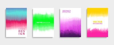 Abdeckungen entwerfen Satz mit modernen abstrakten Farbsteigungsmustern Schablonensammlung für Broschüren, Poster, Fahnen und Kar vektor abbildung