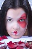 Abdeckungportrait des schönen Mädchens Lizenzfreie Stockfotos