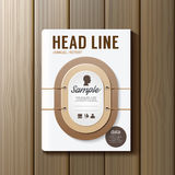 Abdeckungs-Buch-Digital-Design-Erde Tone Color Style Template Lizenzfreie Stockfotos