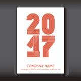 Abdeckungs-Jahresbericht nummeriert 2017, modernes Design Stockbilder