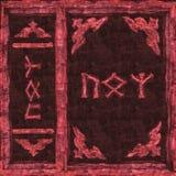 Abdeckungs-rotes magisches Buch Stockbild