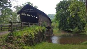 Abdeckungsbrücke in Nord, Virginia Lizenzfreies Stockfoto