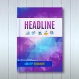 Abdeckungsdesign Broschürenschablonen-Plan Jahresbericht lizenzfreie abbildung