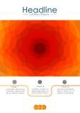 Abdeckungsdesign in der Orange mit Wellen Vektor Stockbild