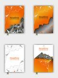Abdeckungsdesign eingestellt in niedriges Poly Vektor Stockbilder