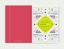 Abdeckungsdesign für Broschürenbroschürenflieger Moderne Hintergrundlinie Kunst Abstrakter geometrischer bunter Hintergrund Lizenzfreies Stockfoto