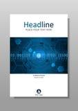 Abdeckungsdesign HUD in den futuristischen Kreisen A4 Vektor Stockfotos