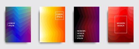 Abdeckungsdesign Minimale geometrische Mustersteigungen Vektor Eps10 Stockfotos