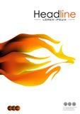 Abdeckungsdesign mit Feuerflammen in A4 Vektor Lizenzfreie Stockbilder