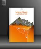 Abdeckungsdesign mit niedrigem Poly fahne Vektor Lizenzfreie Stockbilder