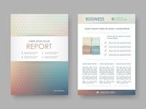 Abdeckungsdesignjahresbericht Vektor Abbildung