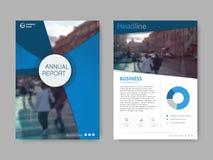 Abdeckungsdesignjahresbericht, Vektorschablonenbroschüren Lizenzfreie Abbildung