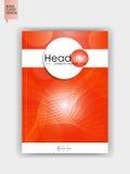 Abdeckungsdesignschablone in A4 Lizenzfreie Stockfotos
