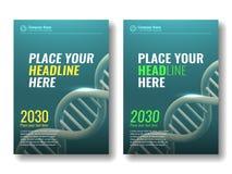 Abdeckungsdesignschablone DNA-Spirale 4 Stockfoto