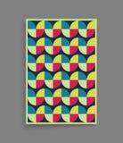 Abdeckungsdesignschablone für die Werbung Abstraktes buntes geometrisches Design Lizenzfreie Stockfotografie