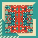 Abdeckungsdesignschablone für die Werbung Abstraktes buntes geometrisches Design Stockfoto