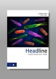 Abdeckungsdesignschablone mit Bakterienmischung Vektor Lizenzfreies Stockbild