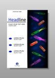 Abdeckungsdesignschablone mit Bakterienmischung Vektor Lizenzfreie Stockbilder