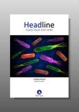 Abdeckungsdesignschablone mit Bakterienmischung Vektor Lizenzfreie Stockfotografie