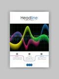 Abdeckungsdesignschablone mit glühendem Diagramm Vektor Lizenzfreie Stockbilder