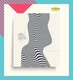 Abdeckungsdesignschablone Muster mit optischer Illusion Abstrakter geometrischer Hintergrund 3d Auch im corel abgehobenen Betrag stock abbildung