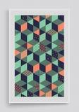 Abdeckungsdesignschablone Strukturhintergrund der Blöcke 3d Auch im corel abgehobenen Betrag Stockfoto