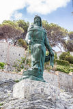 Abderrahman I statue in the town of Almuñecar in Granada Royalty Free Stock Photo