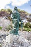 Abderrahman I staty i staden av Almuñecar i Granada Royaltyfri Foto