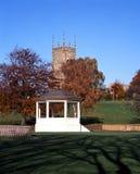 Abdij en tuinen, Evesham, Engeland. Royalty-vrije Stock Afbeeldingen