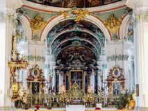 Abdij van de Schaafwond van Heilige, St Gallen, Zwitserland Stock Afbeeldingen