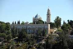 Abdij van Dormition, Jeruzalem Stock Foto