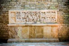 Abdij van Fontenay, Bourgondië, Frankrijk Binnenland van beroemde Cisterciënzer Abdij van Fontenay, een Unesco-Plaats van de Were royalty-vrije stock foto