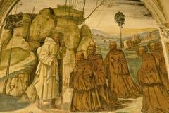 Abdij van Monte Oliveto Maggiore, Siena, Toscani? - Itali? royalty-vrije stock fotografie