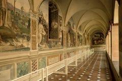 Abdij van Monte Oliveto Maggiore, Siena, Toscani? - Itali? royalty-vrije stock afbeeldingen
