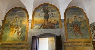 Abdij van Monte Oliveto Maggiore, Toscanië, Italië Stock Afbeelding