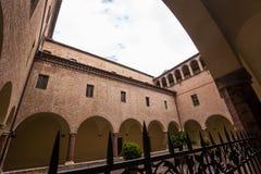 Abdij van Monte Oliveto Maggiore, Toscanië, Italië Royalty-vrije Stock Afbeeldingen
