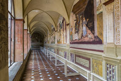 Abdij van Monte Oliveto Maggiore, Toscanië, Italië Stock Foto's