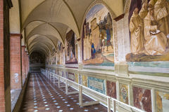 Abdij van Monte Oliveto Maggiore, Toscanië, Italië Stock Foto