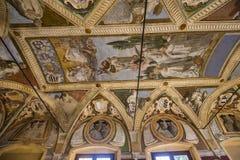 Abdij van Monte Oliveto Maggiore, Toscanië, Italië Stock Afbeeldingen