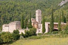 Abdij van San Pietro in vallei Stock Foto