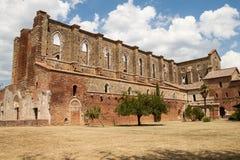 Abdij van St. Galgano, Toscanië royalty-vrije stock foto's