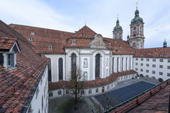 Abdij van St Gallen op Zwitserland Royalty-vrije Stock Afbeeldingen