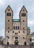 The Abdinghof Church, Paderborn, Germany. The Abdinghof Church in former abbey of benedictines in Paderborn, Germany stock photo