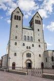 Abdinghof kyrka i den historiska mitten av Paderborn Royaltyfri Fotografi