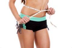 abdomen female make shooting studio up Στοκ Φωτογραφία