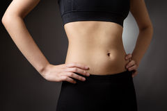 abdomen female make shooting studio up Στοκ Εικόνες