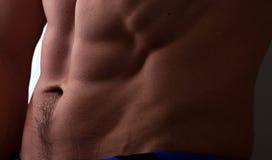 Abdomen masculino muscular Foto de archivo