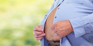 Abdomen obeso del hombre Fotos de archivo