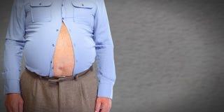 Abdomen obeso del hombre Fotos de archivo libres de regalías