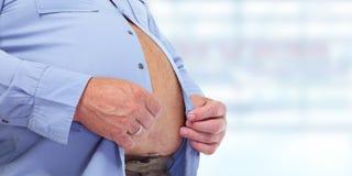 Abdomen obeso del hombre Foto de archivo libre de regalías